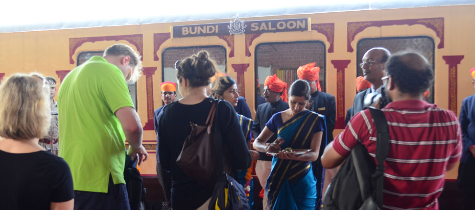 Guests Boarding Palace on Wheels